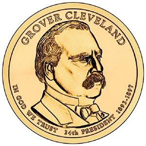 2012 $1.00 President Grover Cleveland D