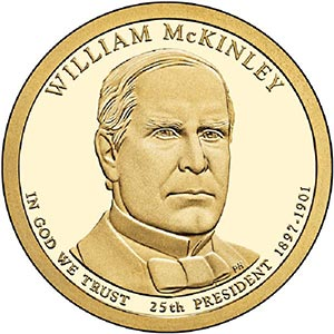 2013 $1.00 President William McKinley P