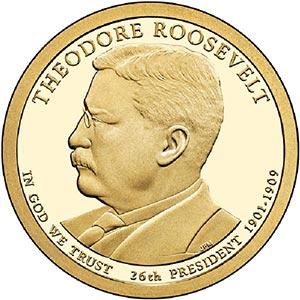 2013 $1.00 President T. Roosevelt P m