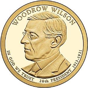 2013 $1.00 President Woodrow Wilson P