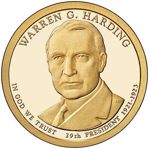 2014 $1.00 President Warren G. Harding