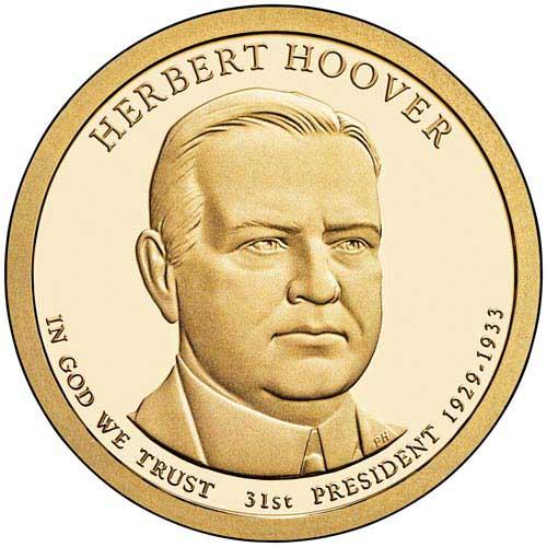 2014 $1.00 President Herbert Hoover