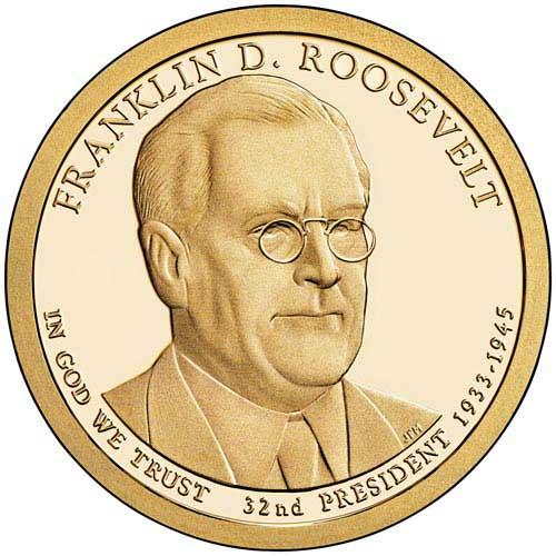 2014 $1.00 President F.D. Roosevelt
