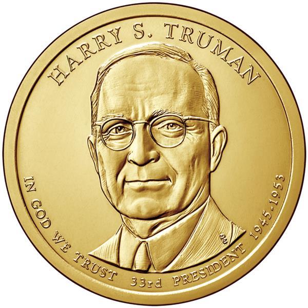 2015 $1.00 President Harry S. Truman P