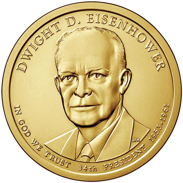 2015 $1.00 President Dwight D. Eisenhower, D Mint