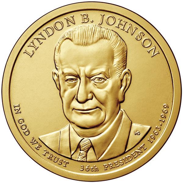2015 $1.00 President Lyndon B. Johnson