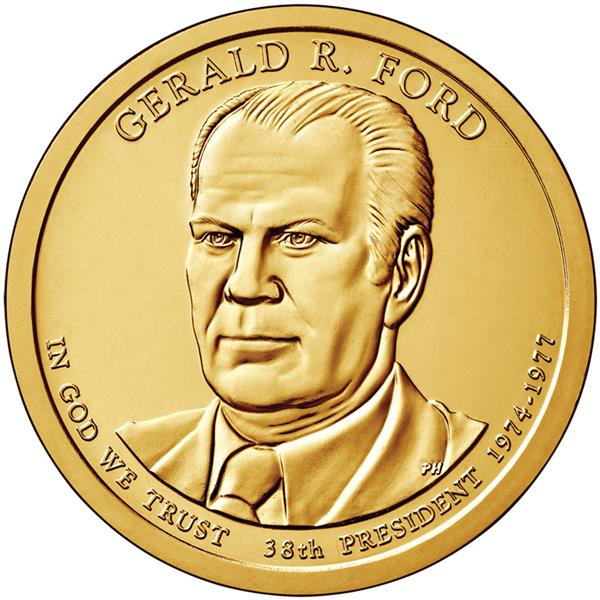 2016 $1.00 President Gerald Ford P Mint