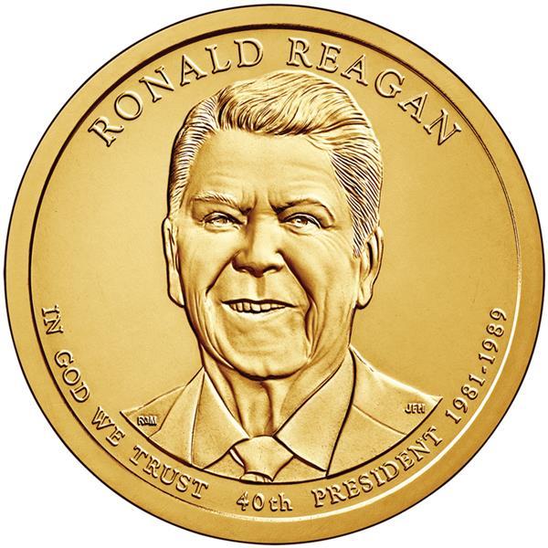 2016 $1.00 President Ronald Reagan D