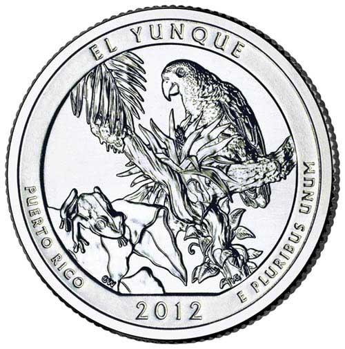 2012 El Youque National Forest Quarter, P Mint