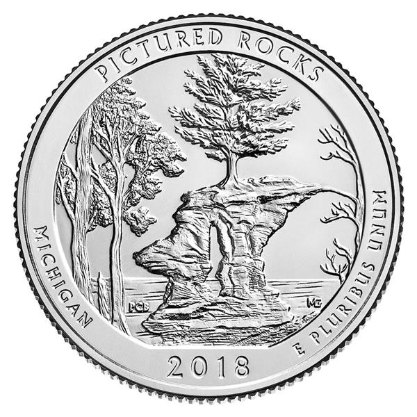 2018 Pictured Rock National Lakeshore Quarter, D Mint