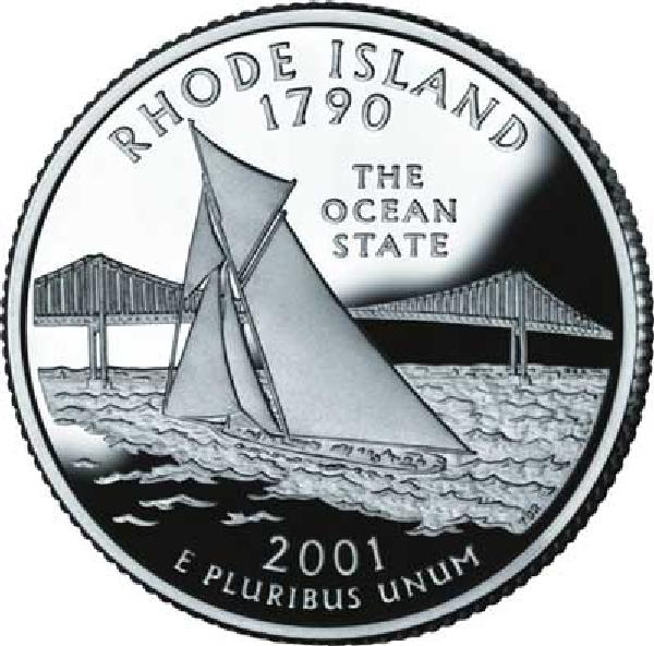 2001 Rhode Island State Qtr., D Mint