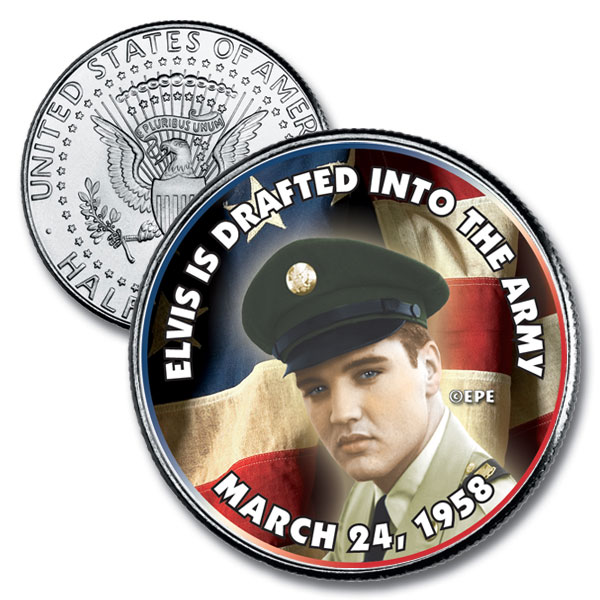 Elvis Drafted in the Army 1/2 Dollar