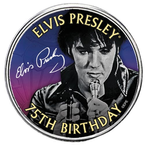 Elvis 75th B-day 1/2 Dollar