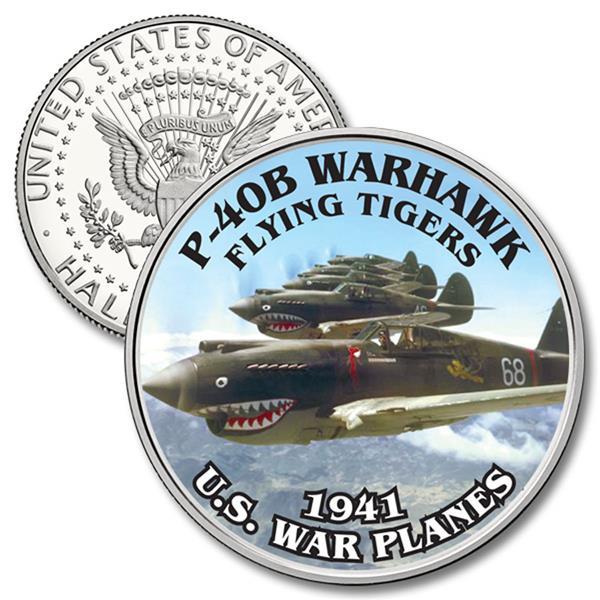 JFK 50c P-40B Warhawk