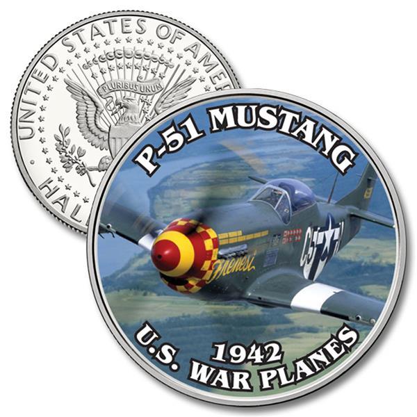 JFK 50c P-51 Mustang