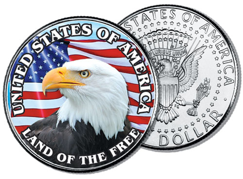 JFK 50c United States of America, Land of the Free