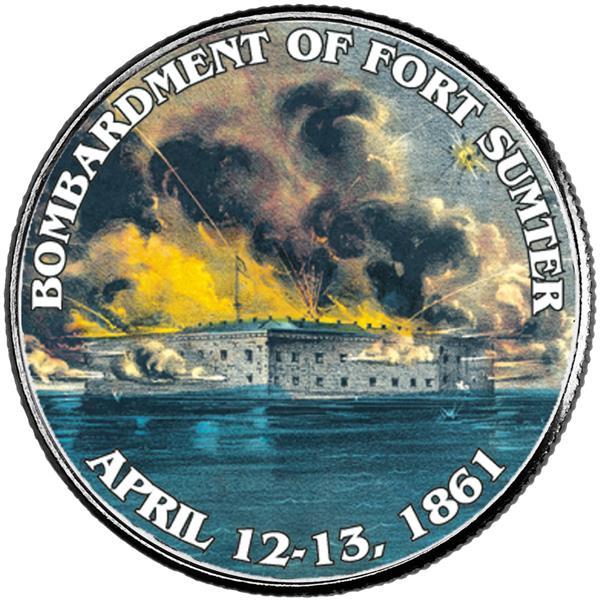 JFK 50c Bombardment of Fort Sumter