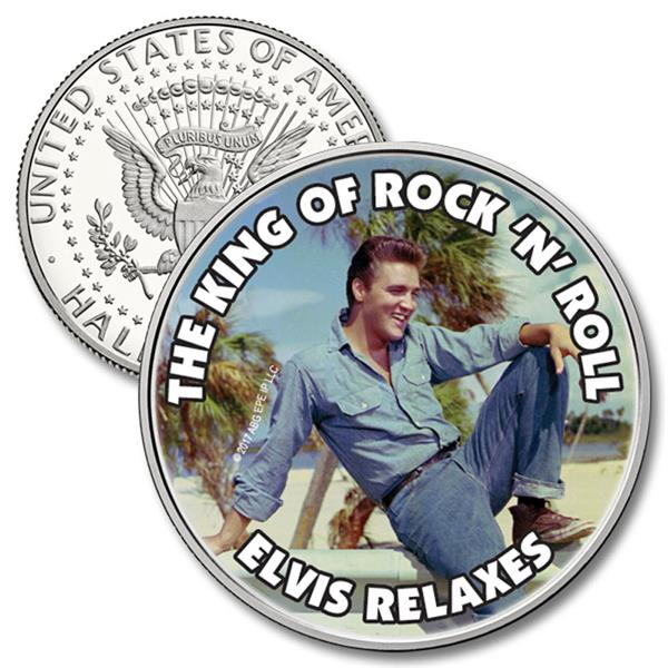 JFK 50c The King of Rock N' Roll- Elvis Relaxes