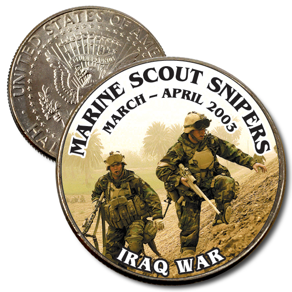 JFK 50c Marine Scout Snipers