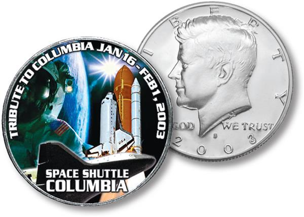 JFK 50c Tribute to Space Shuttle