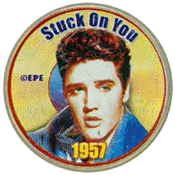 "Elvis ""Stuck on You"" Colorized Qtr."