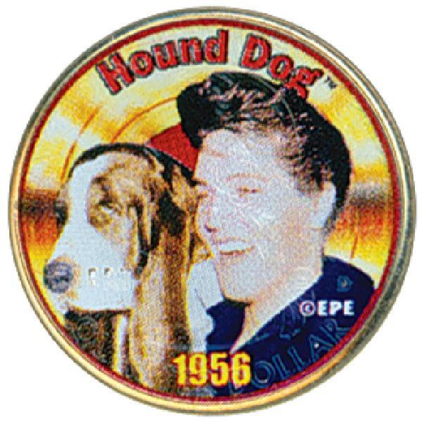 Elvis 'Hound Dog' Colorized Qtr.