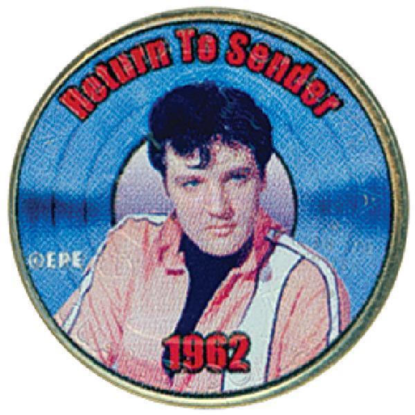 """Elvis """"Return to Sender""""Colorized Qtr."""