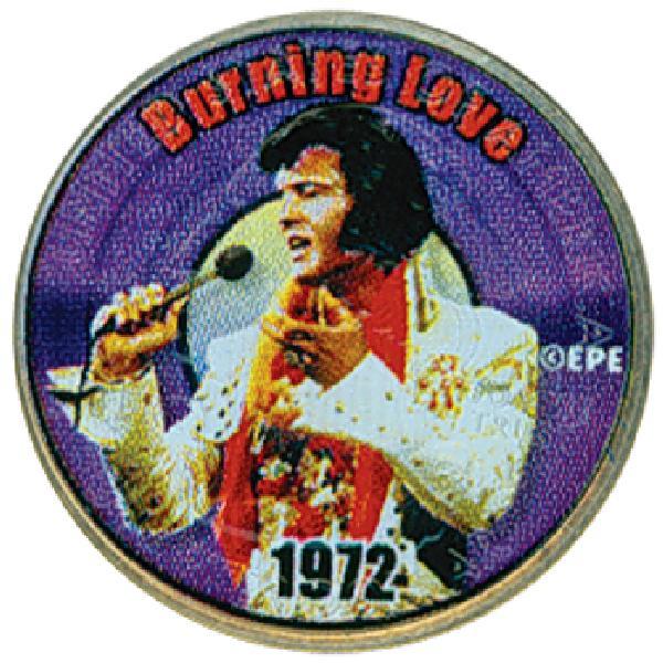 Elvis 'Burning Love' Colorized Qtr.