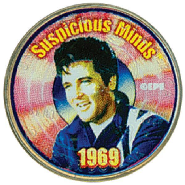 Elvis 'Suspicious Minds' color-enhanced U.S. quarter