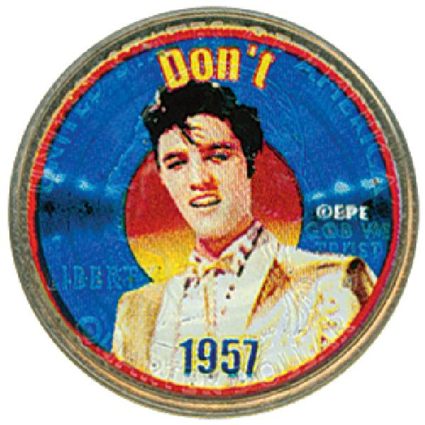 Elvis 'Don't' color-enhanced U.S. quarter