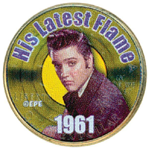 Elvis 'His Latest Flame'Colorized Qtr.