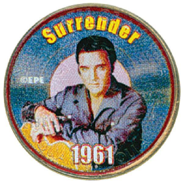 """Elvis """"Surrender"""" Colorized Qtr."""