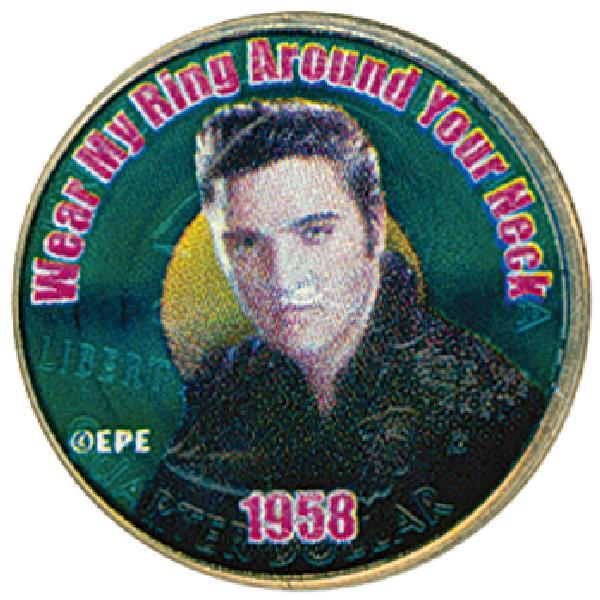 Elvis 'Wear My Ring' Colorized Qtr.