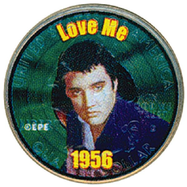 "Elvis ""Love Me"" Colorized Qtr."