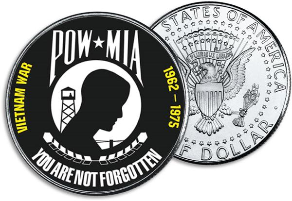 JFK 50c POW-Missing in Action