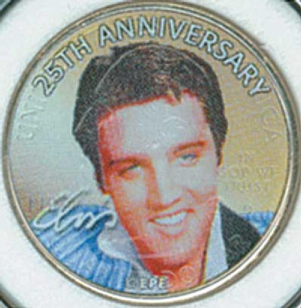 Elvis TN State Qtr. Colorized 25th Anni.