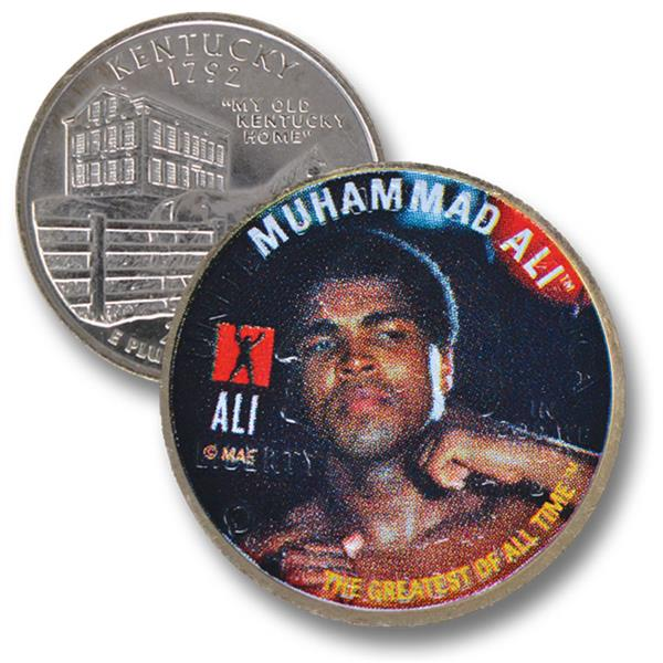 Muhammad Ali - Fist Raised, US Kentucky Quarter