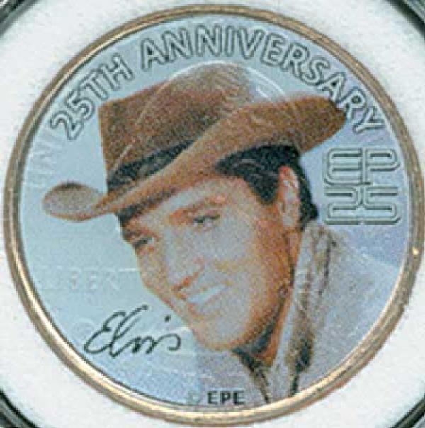 Elvis TN State Qtr. Colorized Cowboy Hat