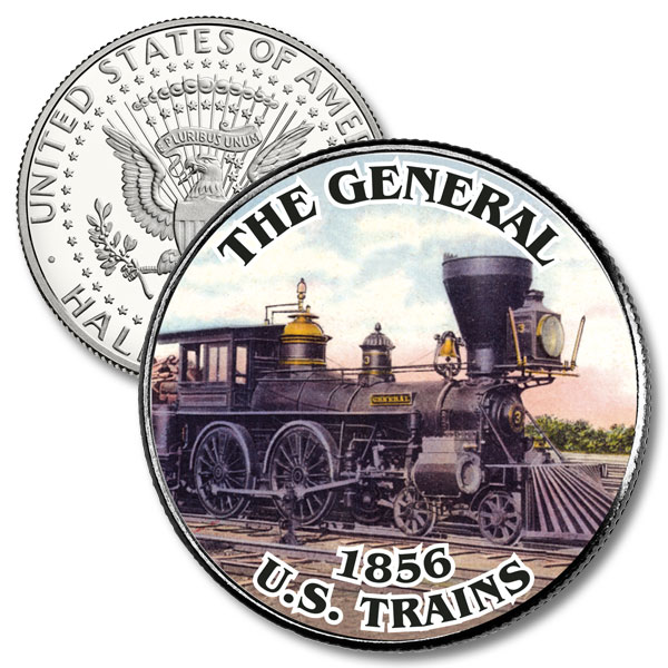 JFK 50c Trains 'The General'