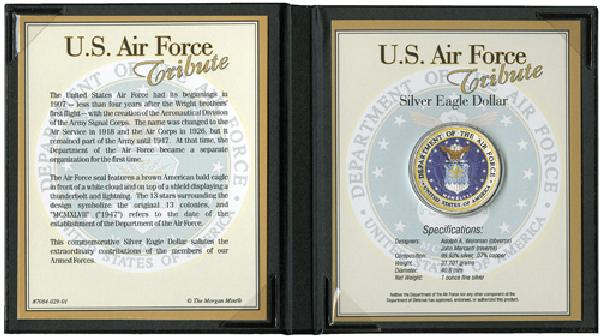 US Silver Dollar Tribute to Air Force