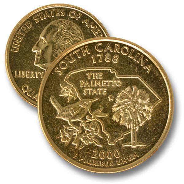 2000 SC State Quarter Gold Plate