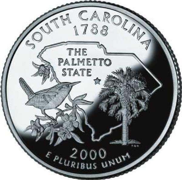 2000 South Carolina State Quarter, P Mint