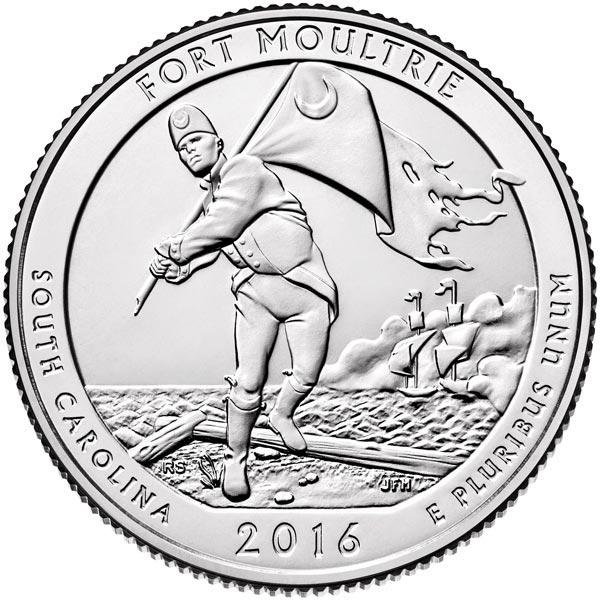 2016 Fort Moultrie-Fort Sumter National Monument Quarter, P Mint