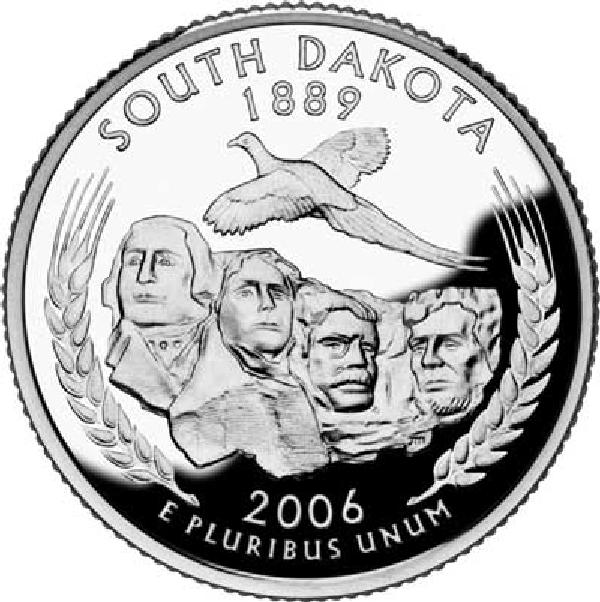 2006 South Dakota State Quarter, D Mint