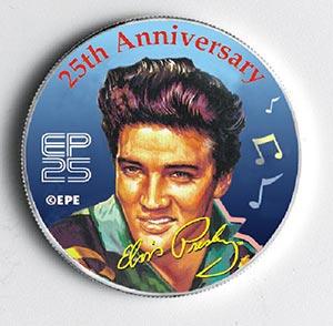 Elvis 'Tribute'US MS Quarter (blue)