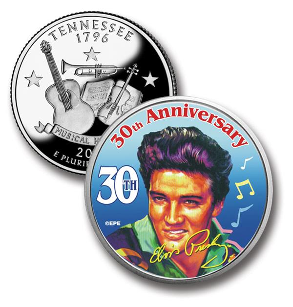 Elvis 30th Anniversary Tribute on Tennessee Quarter