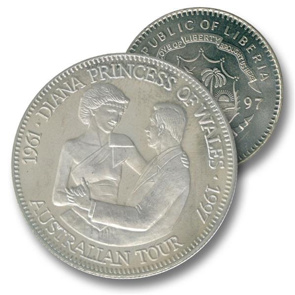 1997 Liberia $5 Diana 1st Austrial Tour
