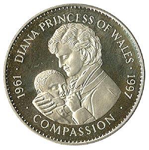 1997 Liberia $5 Dianas Trip to Africa