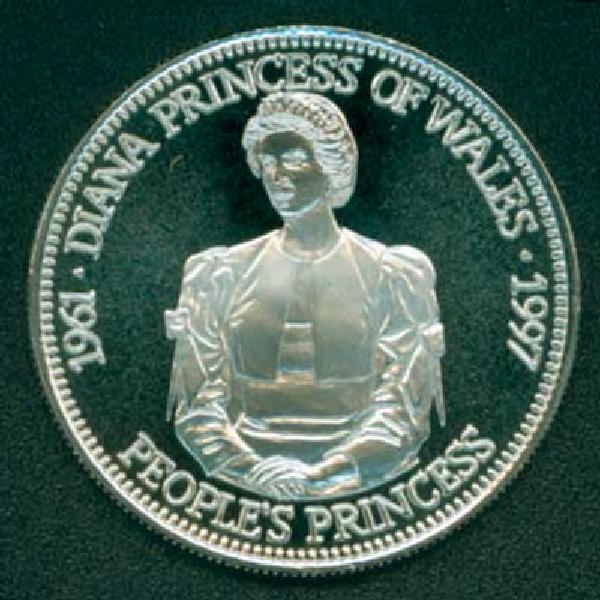 1997 Liberia $5 Diana, Peoples Princess