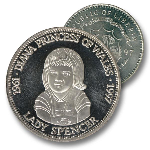 1997 Liberia $5 'Lady Spencer'